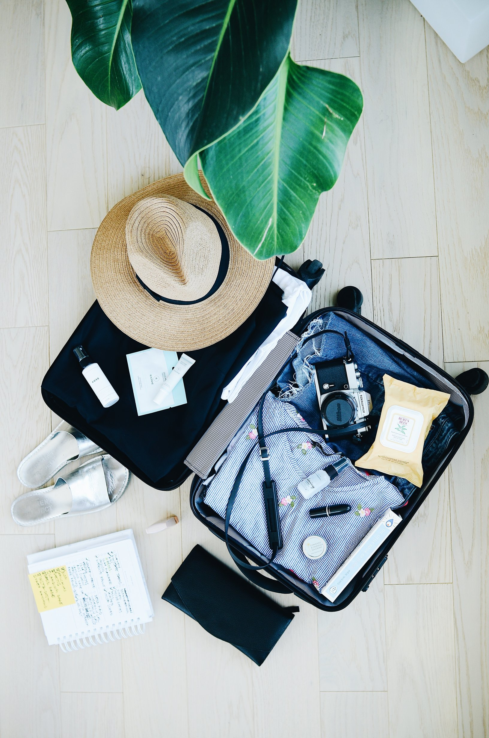 travel anxiety packing suitcase