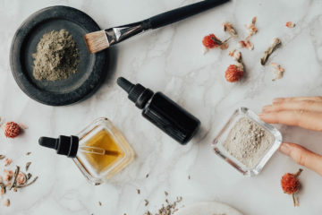 natural health products on a table